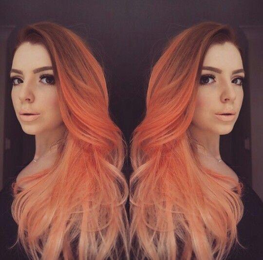 Peach ombre 1