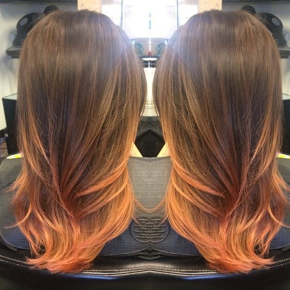 Peach ombre 12
