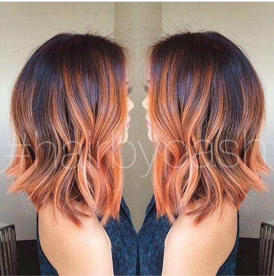 Peach ombre 14