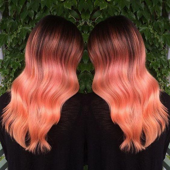 Peach ombre 2