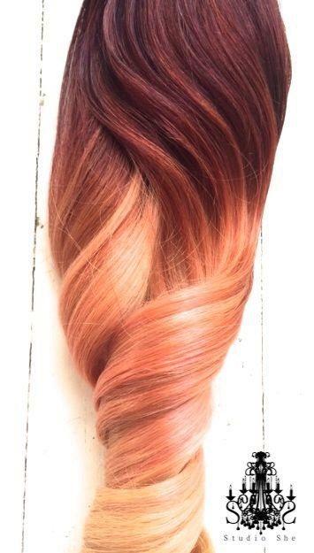 Peach ombre 7