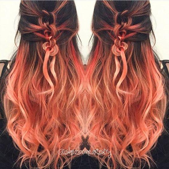 Peach ombre 8