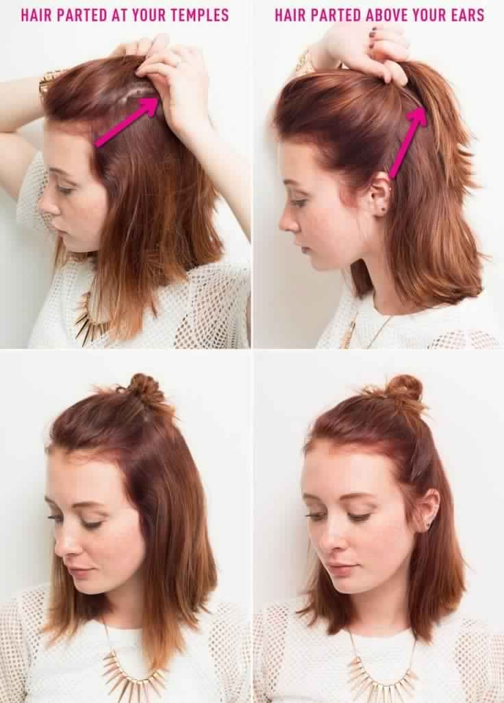 20 coiffures classes faciles et rapides pour cheveux for The look at home