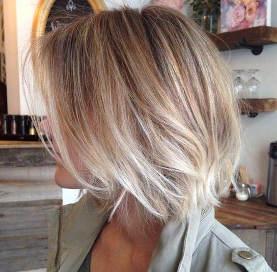 Coupures de cheveux blonde bob