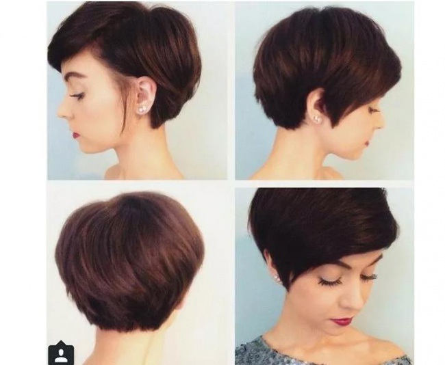 Magnifiques carr es derri re l 39 oreille 34 mod les impressionnants coiffure simple et facile - Coupe nuque courte long devant ...