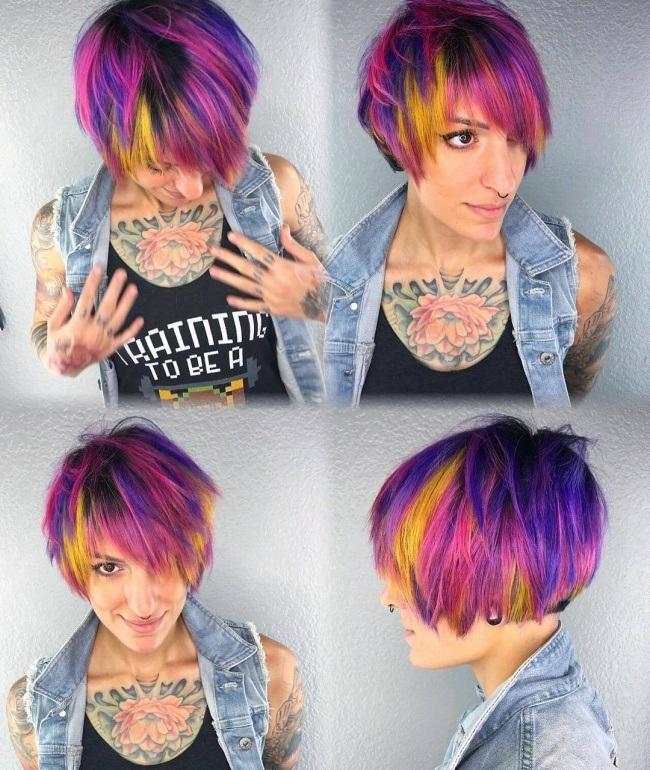 Magnifiques Couleurs Pour Cheveux Courts 22