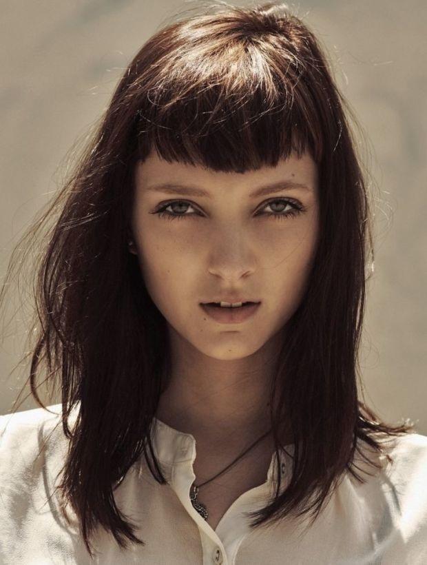 des coiffures frangées  10