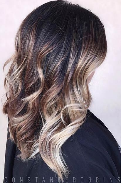 Balayages Cheveux Marron Carame 1
