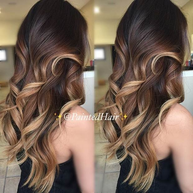 Balayages Cheveux Marron Carame 12