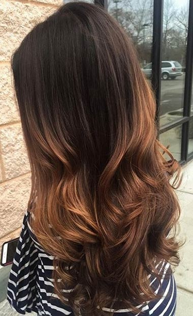 Balayages Cheveux Marron Carame 14
