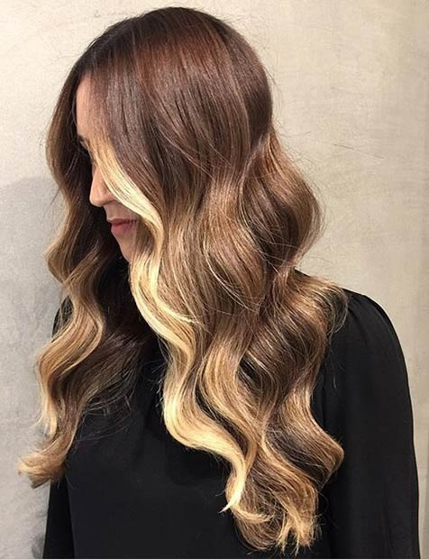 Balayages Cheveux Marron Carame 16