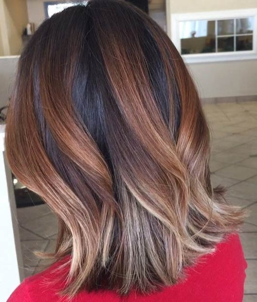 Balayages Cheveux Marron Carame 18