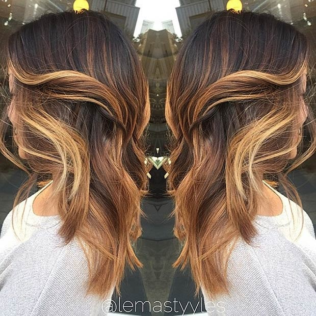 Balayages Cheveux Marron Carame 19