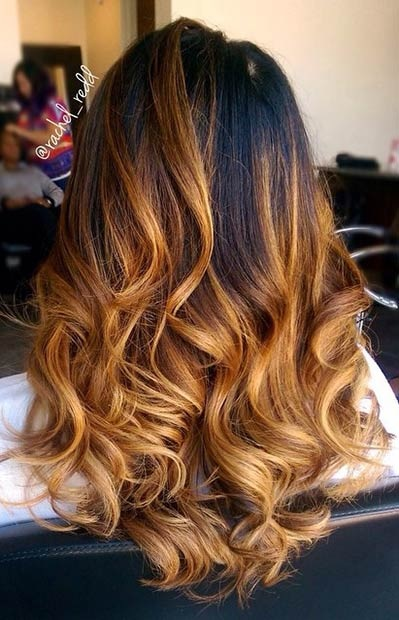Balayages Cheveux Marron Carame 20