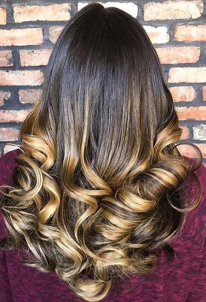 Balayages Cheveux Marron Carame 23