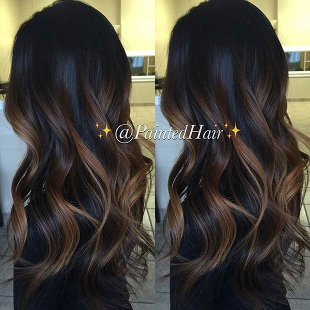 Balayages Cheveux Marron Carame 25