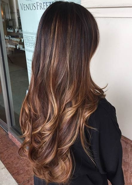 Balayages Cheveux Marron Carame 27