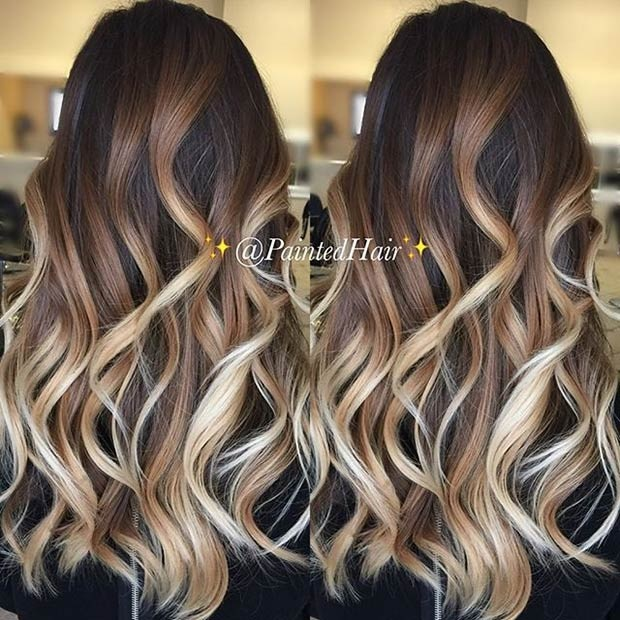 Balayages Cheveux Marron Carame 29