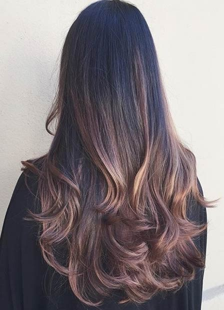 Balayages Cheveux Marron Carame 30