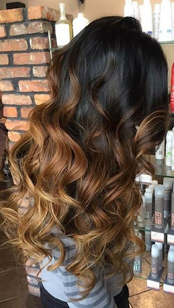 Balayages Cheveux Marron Carame 6