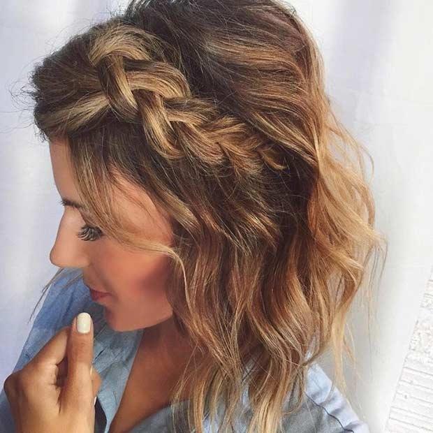 20 belles tresses pour cheveux courts coiffure simple et facile for Comcoiffure avec tresse facile