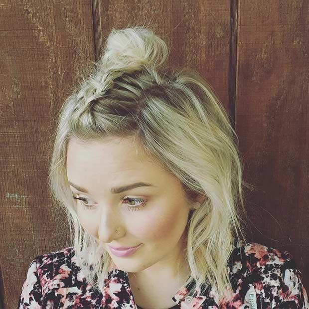 20 Belles Tresses Pour Cheveux Courts Coiffure Simple Et