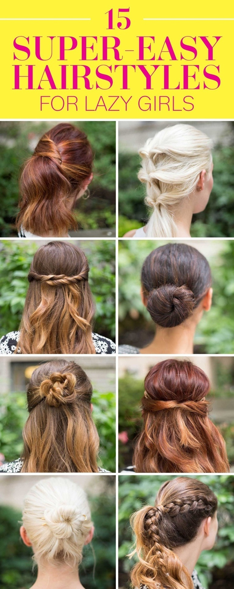 15 Simple And Cute Hairstyle Tutorials: 15 Jolis Coiffures Express Pour Cheveux Mi-longs