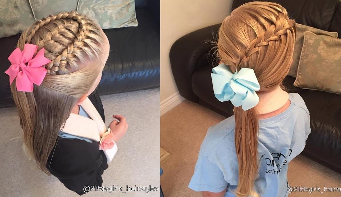 magnifiques tresses pour petites filles coiffure simple. Black Bedroom Furniture Sets. Home Design Ideas