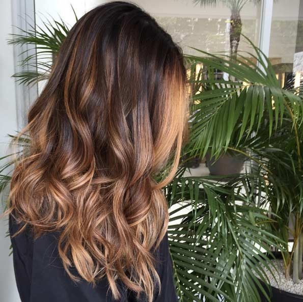 balayage cheveux marron caramel les meilleurs mod les coiffure simple et facile. Black Bedroom Furniture Sets. Home Design Ideas