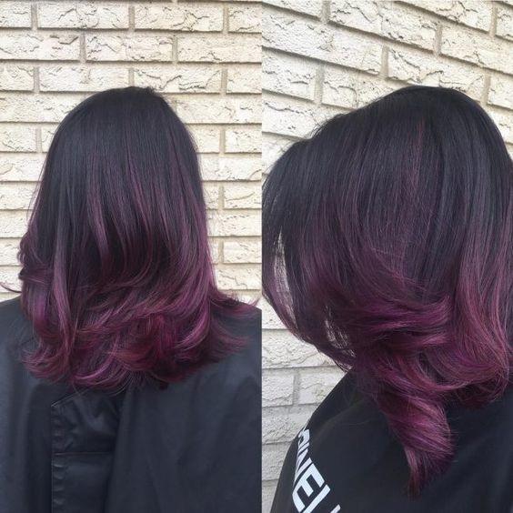 Ombr 233 Hair Violet Ne Ratez Pas Cette Tendance Qui