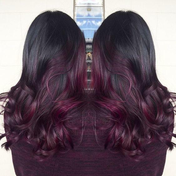 Ombr hair violet ne ratez pas cette tendance qui - Couleur ombre hair ...