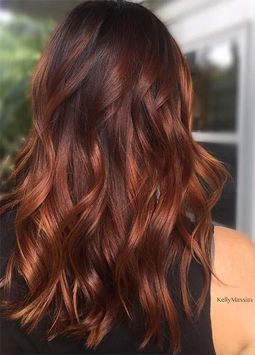 Couleur de cheveux pour femme hiver