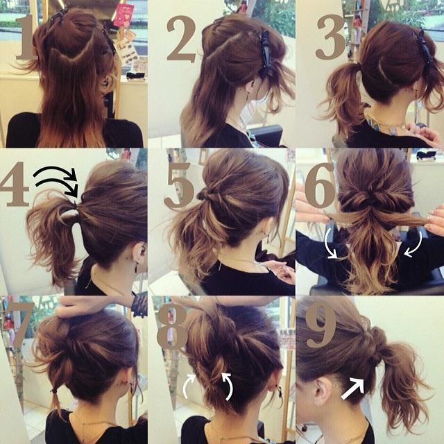 Préféré coiffures faciles et pratiques en moins de 5 minutes pour cheveux &KK_82