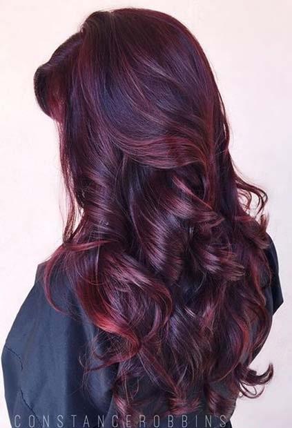 Couleur cheveux rouille
