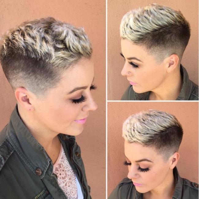 Tendance coupe courte 2017 pour femme coiffure simple et - Modele de coupe tres courte pour femme ...