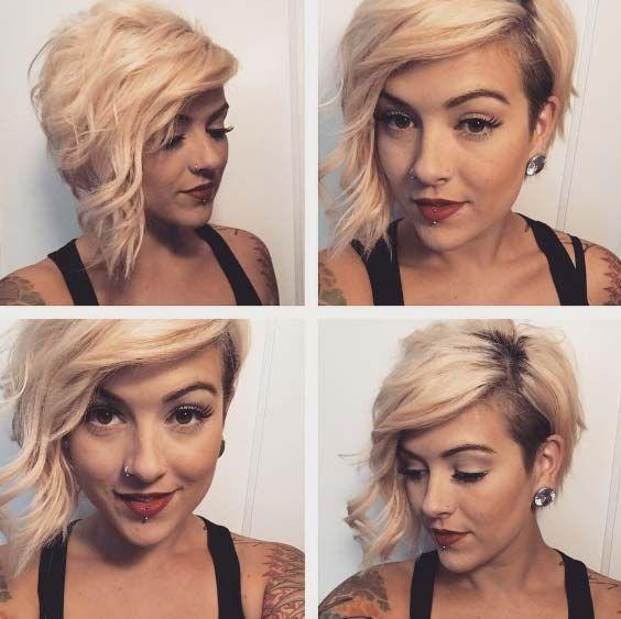 coiffure courte asymétrique femme