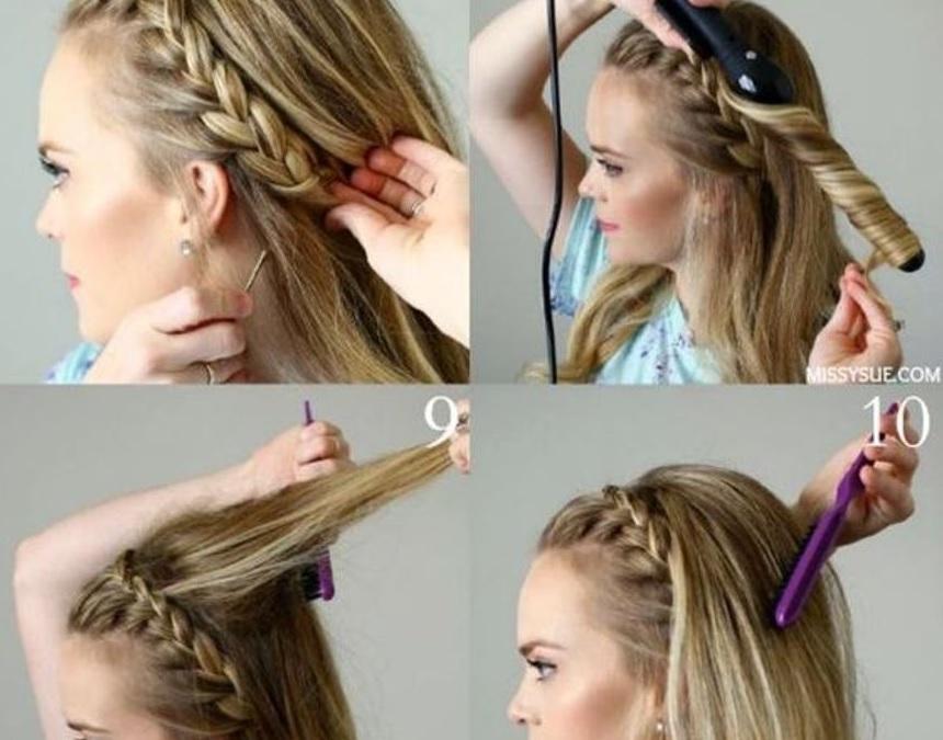 Tuto coiffure cheveux mi long facile et rapide coiffure simple et facile - Coiffure facile et rapide ...