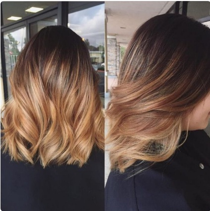 Ombr Hair Caramel. Best Long Bob Ombre Hair. Dark Brown To Bry ...