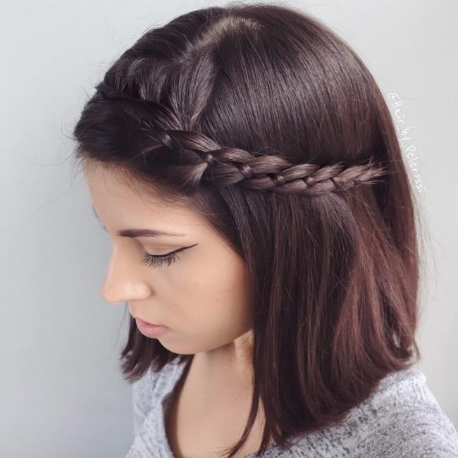 Coiffure Avec Tresse Cheveux Mi Long Coiffure simple et