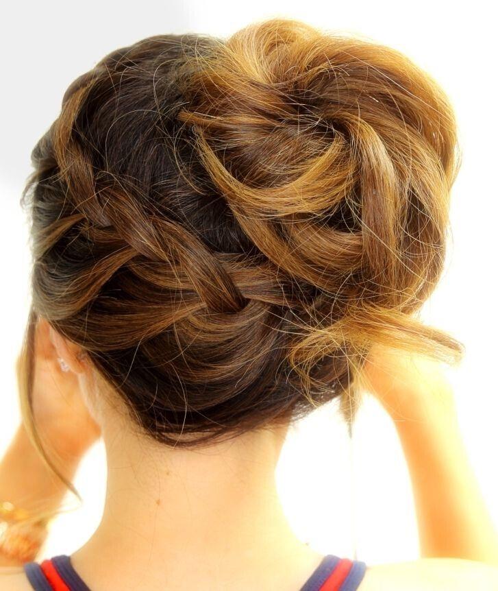 15 Magnifiques Chignons Pour Cheveux Mi-longs   Coiffure simple et facile