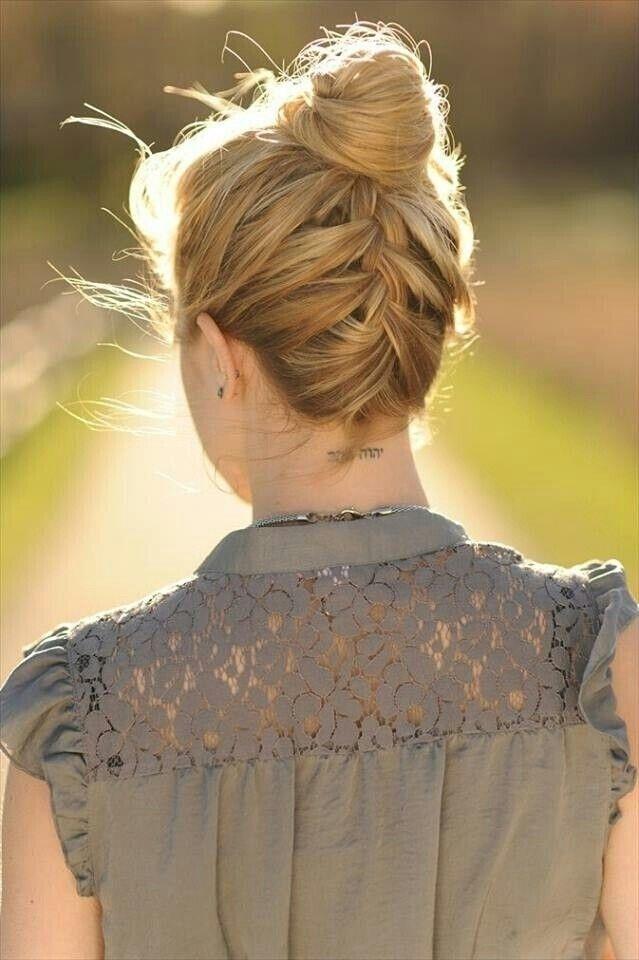 Magnifiques Chignons Pour Cheveux Mi Longs 2018 Coiffure Simple Et Facile