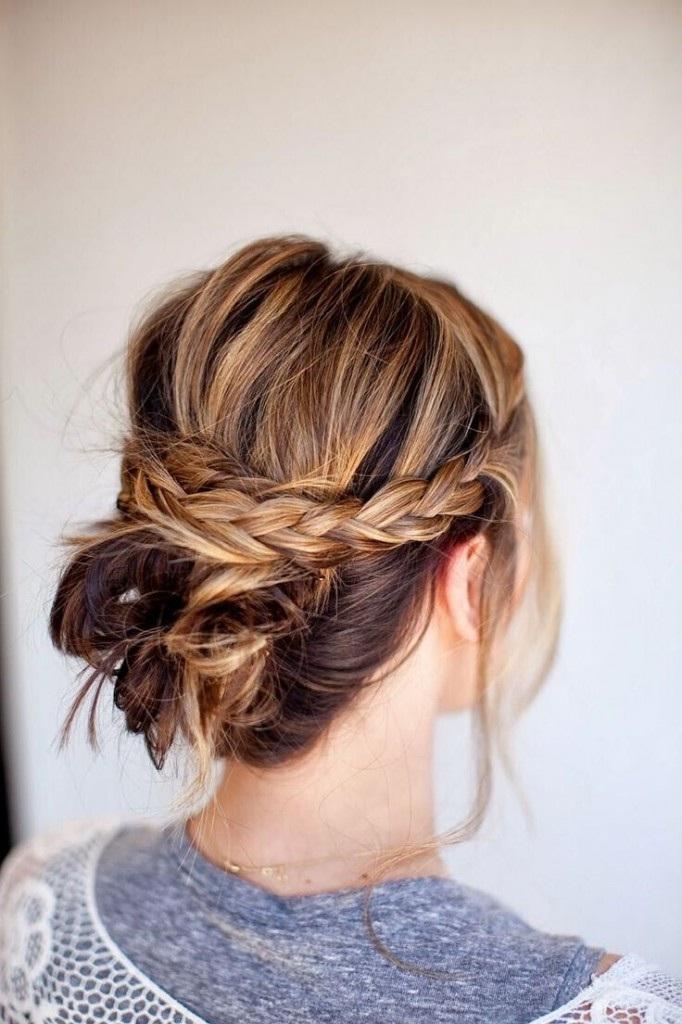 Modele de chignon sur cheveux long