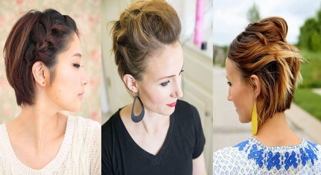 Bien-aimé Coiffure cheveux courts | Coiffure simple et facile - Part 3 OH44