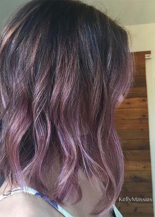 Couleur cheveux chocolat violine