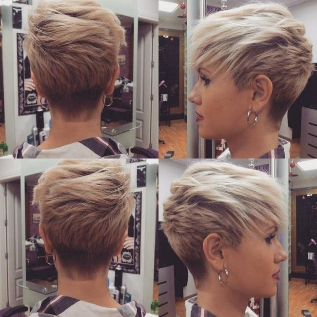 Coupe de cheveux courte pour cheveux raides