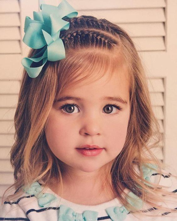 Magnifiques coiffures pour petites filles coiffure simple et facile - Coiffure fille simple ...