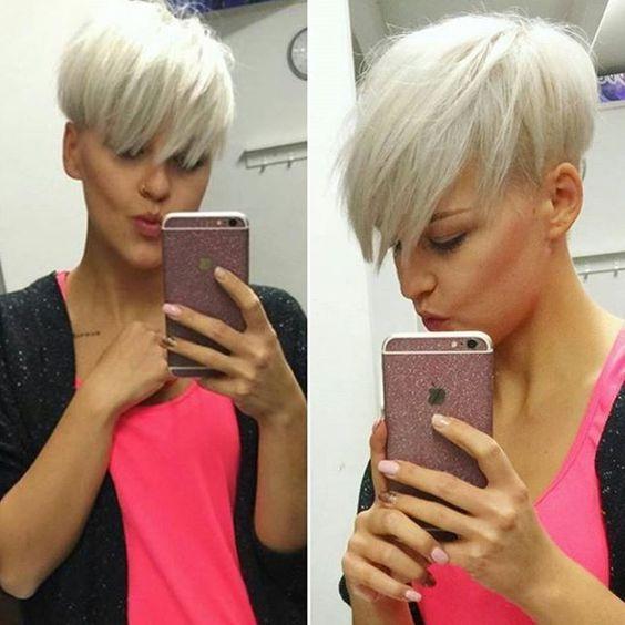 Magnifiques coupes courtes hyper styl e tendance 2017 coiffure simple et facile - Coiffure moderne 2017 ...