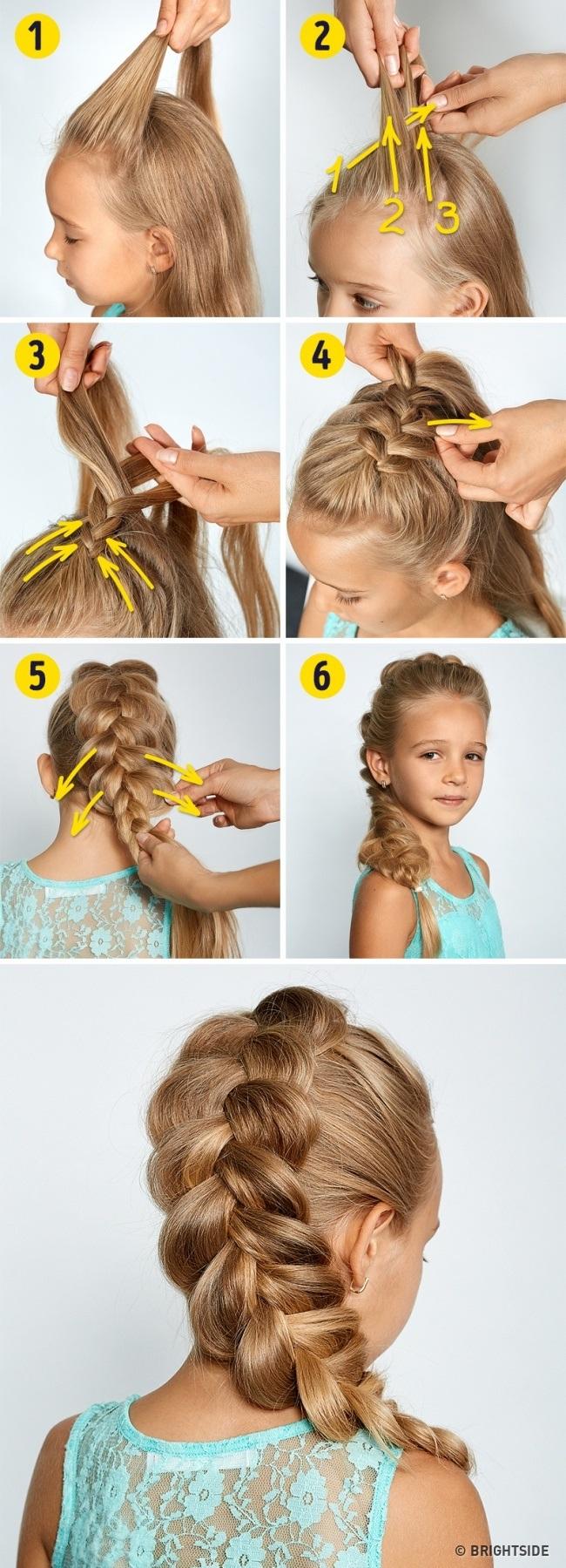 Voici les meilleures coiffures école pour votre petite fille | Coiffure simple et facile
