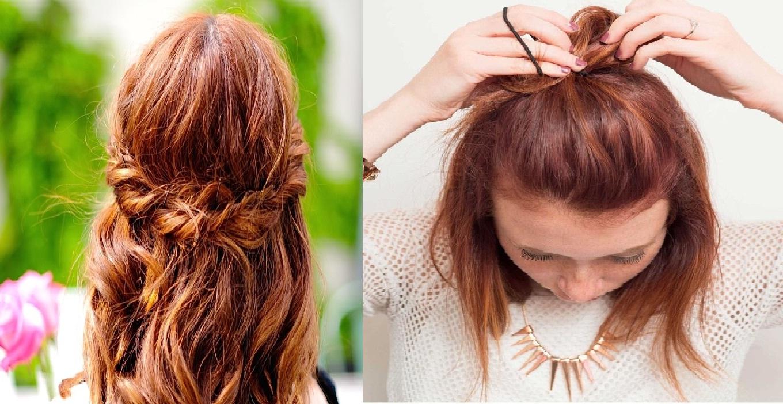 Coiffure cheveux courts facile les plus simples apprendre coiffure simple et facile Coiffure mariage facile longueur cheveux