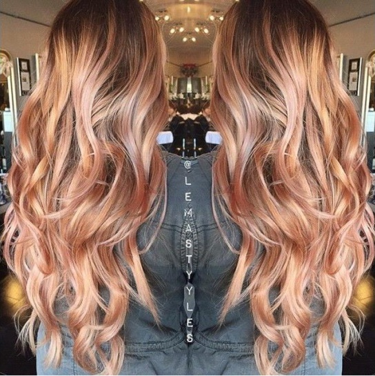 Light Pink Highlights In Brown Hair